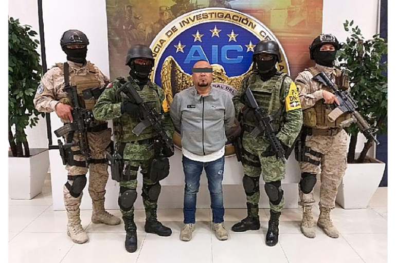 "Jose Antonio Yepez, ""el Marro"", drug gang leader of the Santa Rosa de Lima Cartel, was detained by Mexican security forces in the central state of Guanajuato [Guanajuato State Attorney's Office/Handout/EPA]"
