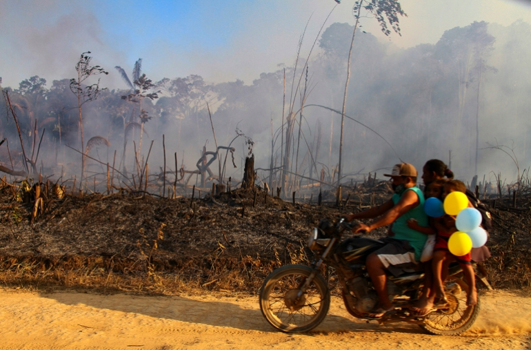 The Brazilian Amazon is experiencing its worst rash of fires in almost 10 years, data from house analysis company INPE shows.