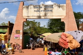 This file photo from 2018 shows a general view of the market of Fada N'Gourma, eastern Burkina Faso [File: AFP]