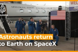 NASA astronauts' historic return on SpaceX capsule  [Daylife]