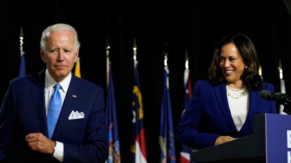 Kamala Harris Lauds Biden S Audacity To Choose A Black Woman Us Canada Al Jazeera