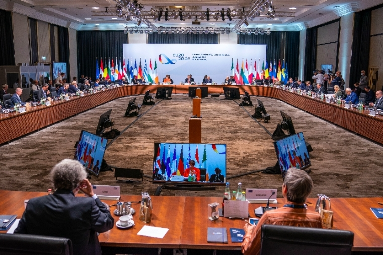 The EU defence ministers meeting in Berlin on August 26 will discuss the situation in Mali [Michael Kappeler/dpa/AFP]