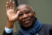Gbagbo was freed conditionally by the International Criminal Court after he was cleared in January 2019 of crimes against humanity [File: Jerry Lampen/Reuters]