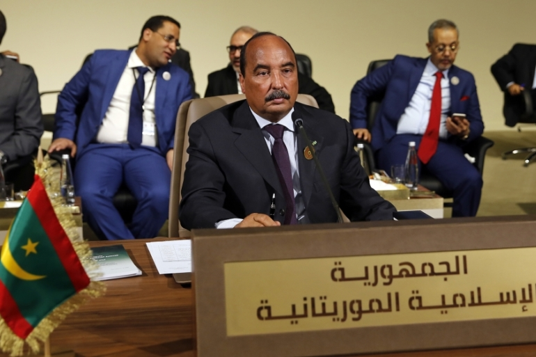 Mauritania's former President Mohamed Ould Abdel Aziz was held last week on charges of corruption [File: Bilal Hussein/AP]