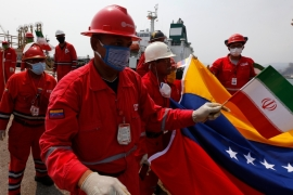 In May, Venezuela celebrated the arrival of five Iranian tankers delivering badly needed fuel to alleviate shortages in Caracas [File: Ernesto Vargas/ AP Photo]