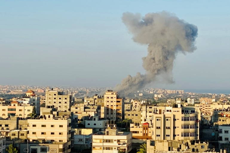 Israel has bombed and carried out attacks on Gaza almost daily since August 6 [Mohammed Shana/Reuters]