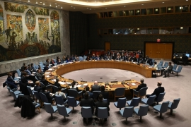 Thirteen of the 15 UN Security Council members, including longtime US allies, say Washington's move is void [File: Johannes Eisele/AFP]