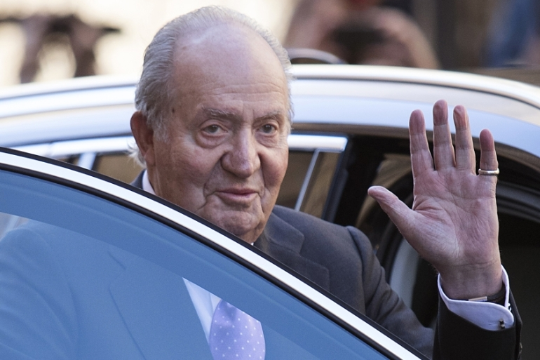 The Spanish royal family announced on Monday that former king Juan Carlos would leave Spain [File: Jaime Reina/AFP]