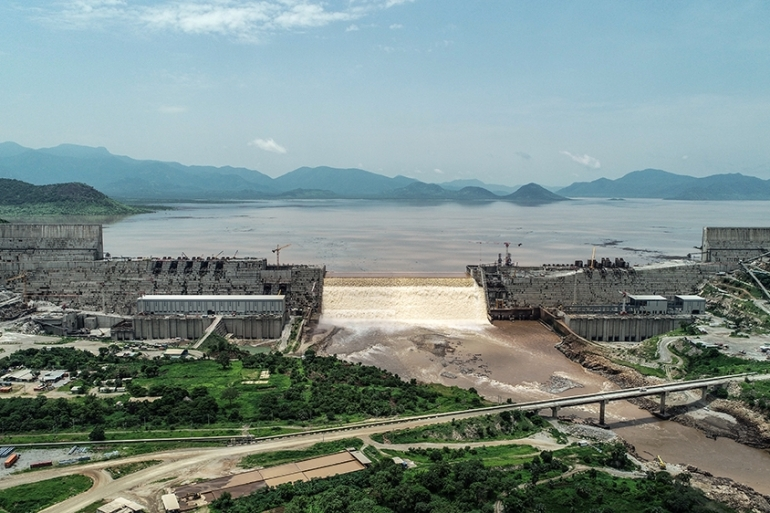 Ethiopia views the mega-dam project as essential for its electrification and development [File: Adwa Pictures/AFP]