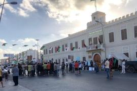 The protest on Monday came a day after hundreds of people took to the streets of Misrata and more than 1,000 gathered in the capital, Tripoli, to voice their anger over similar concerns [Malik Traina/Al Jazeera]
