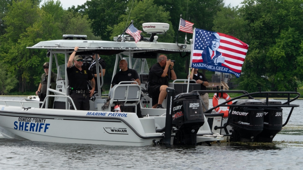 Trumptilla Supporters Hold Boat Rallies For Us President Trump Us Canada Al Jazeera