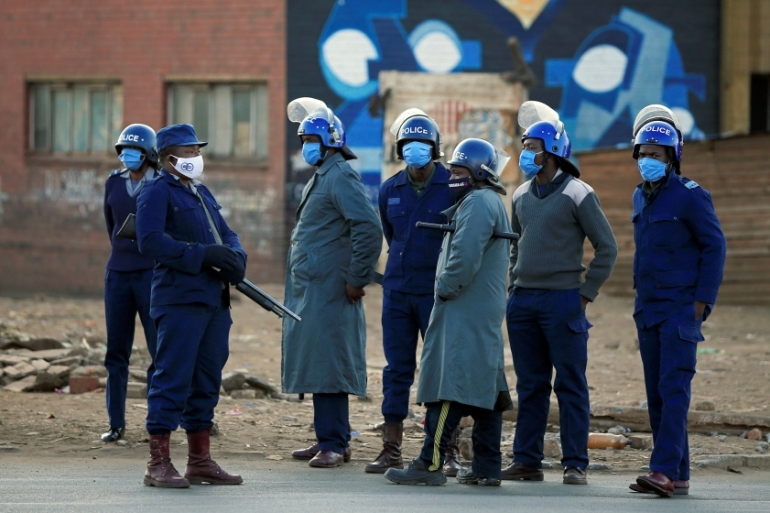 Police thwarted planned anti-government protests on July 31 [Philimon Bulawayo/Reuters]