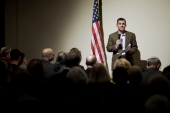 Jewish American author Peter Beinart speaks at an event in Atlanta on November 14, 2012 [File: AP/David Goldman]