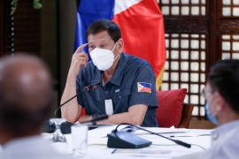 Duterte's office on Tuesday said the Philippines stands ready to work with Russia on vaccine trials, supply and production [File: Ace Morandante/Malacanang Presidential Photographers Division via AP]
