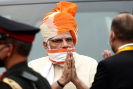 India enjoys broad support in the US but has come under growing criticism from some legislators in Biden's Democratic Party as Modi pursues his Hindu nationalist agenda [File: Adnan Abidi/Reuters]