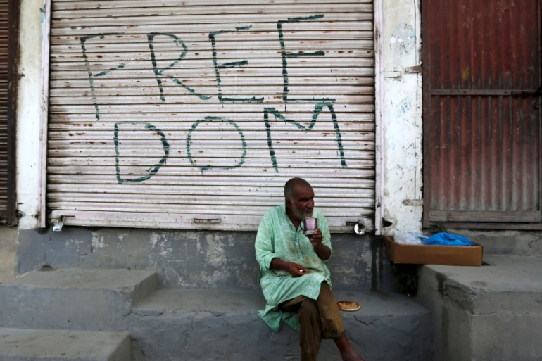Kashmiris have called for the anniversary to be marked as a 'black day' [File: Danish Ismail/Reuters]