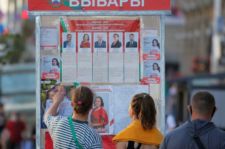 Foreign observers have not judged an election to be free and fair in Belarus for a quarter of a century [Vasily Fedosenko/Reuters]