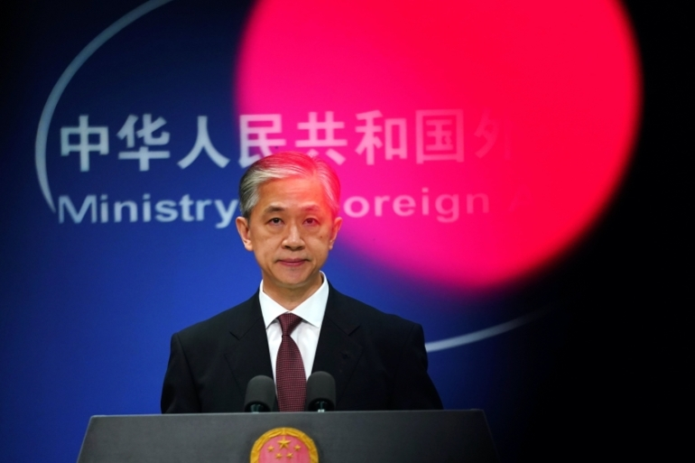 Chinese Foreign Ministry spokesman Wang Wenbin accused the United States of severely disrupting 'the normal cultural and personnel exchanges between China and the US, which amounts to outright political persecution' [File: Tingshu Wang/Reuters]