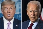 Donald Trump and Joe Biden are to meet for their final debate in the United States presidential election on October 22 [AP Photo]