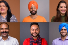 Collage of Indian people smiling - stock photo [GETTY/RANTA IMAGES]