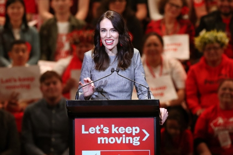 Jacinda Ardern attends the launch of the Labour Party's election campaign in Auckland on August 8, 2020 [Michael Bradley/AFP]