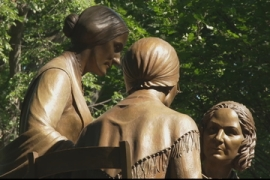 US statue honouring three women's rights pioneers unveiled