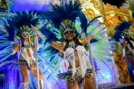 The 2021 Rio Carnival will be postponed because of the coronavirus. The event last took place in February [Mauro Pimentel/AFP]
