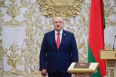 Belarus's President Alexander Lukashenko attends his inauguration ceremony in Minsk on September 23, 2020 [Andrei Stasevich/ AFP]