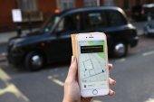 Uber - which has 3.5 million customers and 45,000 drivers in the British capital - was permitted to continue operating during the appeal process [File: Daniel Leal-Olivas/AFP]