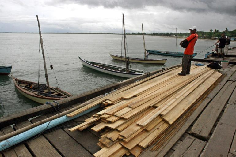 Nicaragua's government has issued a hurricane warning from the Honduras-Nicaragua border to Sandy Bay Sirpi. The area includes the town of Puerto Cabezas [File: Miguel Alvarez/AFP]