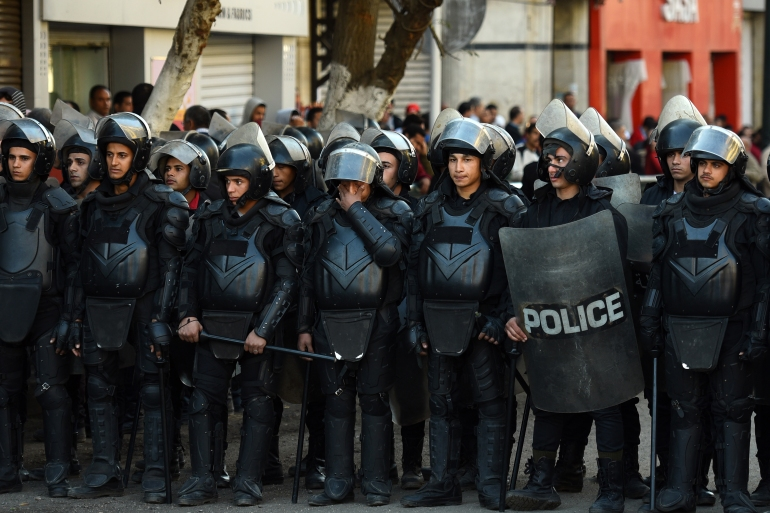 Egypt outlawed all unauthorised demonstrations in 2013 after el-Sisi, as defence minister, led the military's overthrow of democratically elected President Mohamed Morsi [File: Mohamed el-Shahed/AFP]