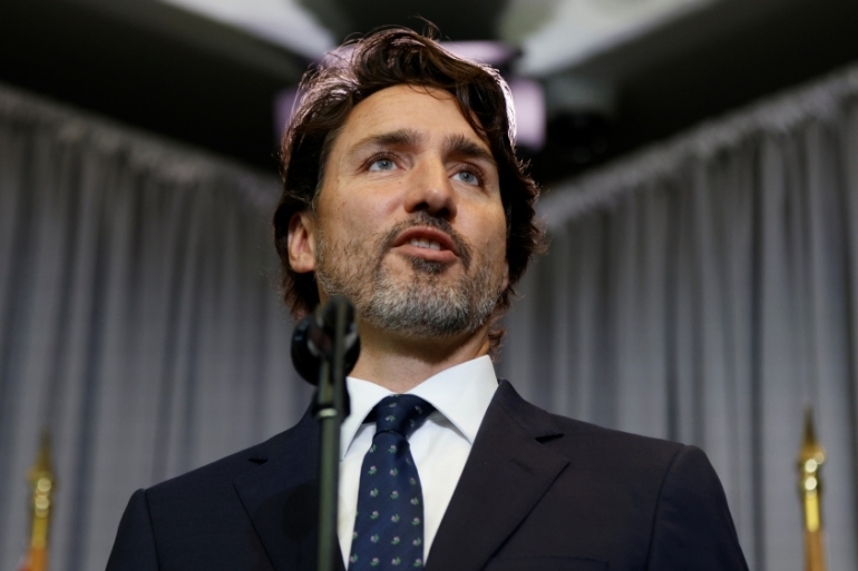 The BJP's Ram Madhav tweeted that Trudeau's comments were 'tantamount to interference in India's sovereign matters' [File: Blair Gable/Reuters]