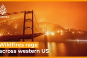 'Unprecedented' wildfires rage across western US [Daylife]