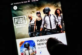 The banned apps include the popular mobile game PUBG which has millions of young users in India [Jewel Samad/AFP]