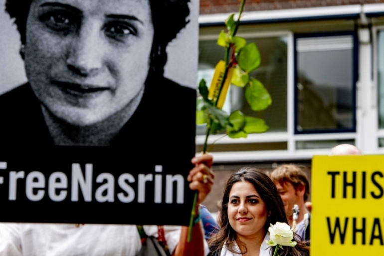 Respected human rights lawyer Nasrin Sotoudeh was sentenced to 38 years in prison and 148 lashes in 2019 [EPA]