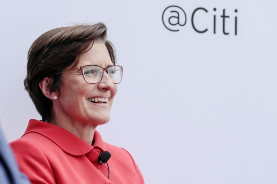 Jane Fraser, who has been with Citi for 16 years, is currently head of Citi's global consumer banking division, a significant part of the bank that oversees checking and savings accounts but also Citi's massive credit card business [File: Bloomberg]