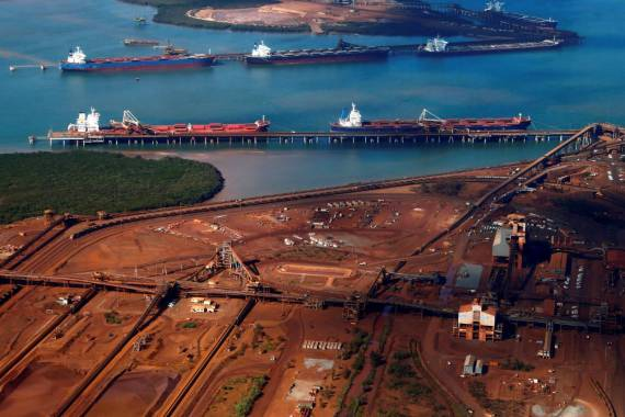 Port Hedland, located on the coast of Western Australia, is one of the world's largest iron ore loading ports [File: David Gray/Reuters]