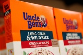 Uncle Ben's rice products will now be called 'Ben's Original' and the logo of an elderly Africa American man wearing a bow tie will be dropped from packaging, parent company Mars announced on Wednesday [File: Brendan McDermid/Reuters]