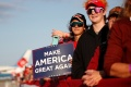 Trump supporters attend a campaign rally at Bemidji Regional Airport in Bemidji, Minnesota in September [File: Tom Brenner/Reuters]