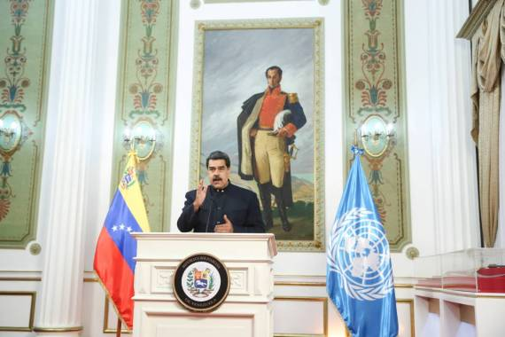 At least 30 countries no longer recognise President Nicolas Maduro as the legitimate leader of Venezuela [Miraflores Palace/Handout via Reuters]