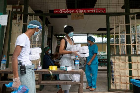 Around 6,000 people have been quarantined in Yangon, and state media reported on Saturday that seven new facilities had been built to isolate another 1,000 people [Shwe Paw Mya Tin/Reuters]