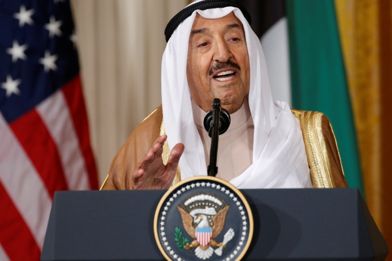 Emir Sheikh Sabah al-Ahmad al-Jaber al-Sabah was a respected voice in the Gulf Cooperation Council and the broader Middle East [File: Kevin Lamarque/Reuters]