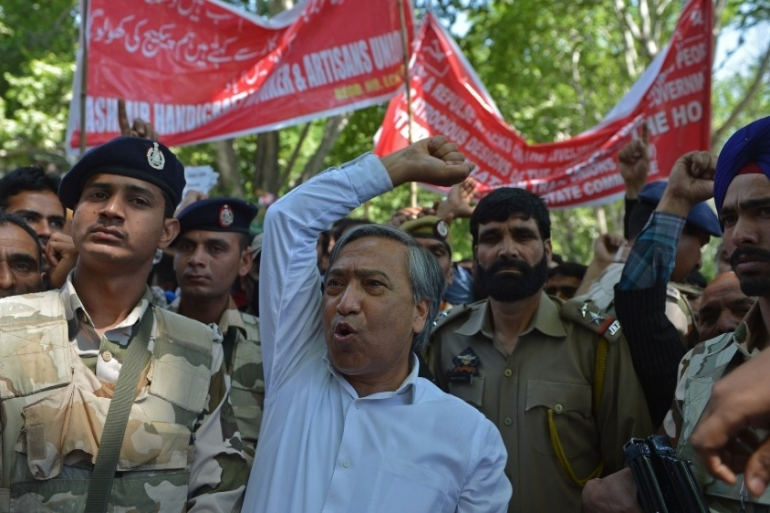 Tarigami said India removed 'the line' that separated pro-Indian politicians in Kashmir from the resistance leaders who advocated freedom for the disputed region [File: Tauseef Mustafa/AFP]