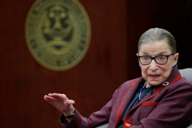 Justice Ruth Bader Ginsburg died on Friday, leaving a vacancy on the United States Supreme Court [File: Stephan Savoia/AP]