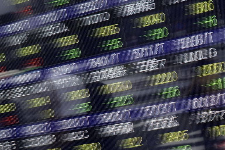 Share prices across most of Asia fell sharply on Thursday on concerns over the US economy [File Kiyoshi Ota/Bloomberg]