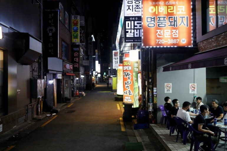 The government had warned South Koreans for years not to open more fried chicken shops or cafes as the small hospitality sector is saturated. Small business profit margins were thinning before the coronavirus outbreak [File: Kim Hong-Ji/Reuters]