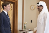 In September, Qatar's ruler, Emir Sheikh Tamim bin Hamad Al Thani, met with White House senior adviser Jared Kushner in Doha, Qatar [File: Qatar News Agency via Reuters]
