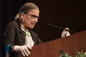 US Supreme Court Justice Ruth Bader Ginsburg died on September 18, 2020 at her home in Washington at the age of 87 [File: AFP/Nicholas Kamm]