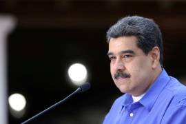 'Whether Trump or Biden wins, we will confront and defeat him,' Venezuelan President Nicolas Maduro said, leaving little doubt as to his intentions toward whomever finds himself in the Oval Office in January [File: Miraflores Palace/Handout via Reuters]