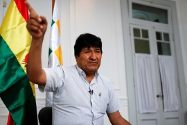 Former Bolivian President Evo Morales in Buenos Aires, Argentina where he is living in exile [File: Agustin Marcarian/Reuters]